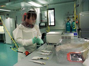 Laboratorio de investigación biológica.