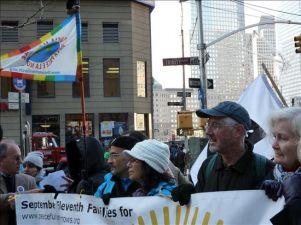 """La Marcha Mundial por la Paz se concentra frente a la """"zona cero"""" en Nueva York"""