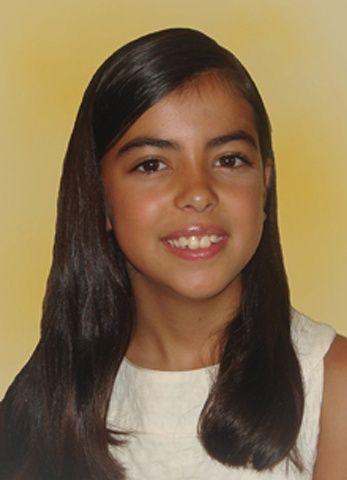 Natalia López Navarrete, sin moños. Tiene 10 años y es alumna del