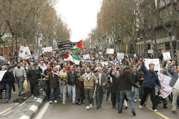 Manifestaciones pro palestinos en Madrid
