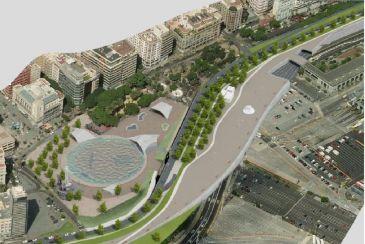 Las obras de la v a litoral de santa cruz arrancan con un for Piscina municipal puerto de la cruz