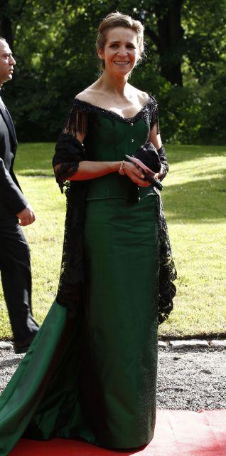 Infanta Elena a su llegada a la cena de gala en honor de Victoria de Suecia