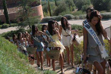 Backstage de Miss España 2010: chicas, ante todo, buen rollito.