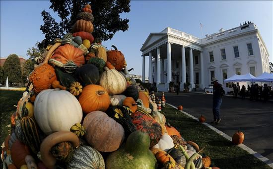 Imagen de la decoraci n de halloween en la casa blanca de for Decoracion estados unidos