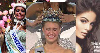 Jimena Navarrete, Miss Universo, Alexandria Mills, Miss Mundo y Elizabeth Mosquera, Miss Internacional.¿La más bella?