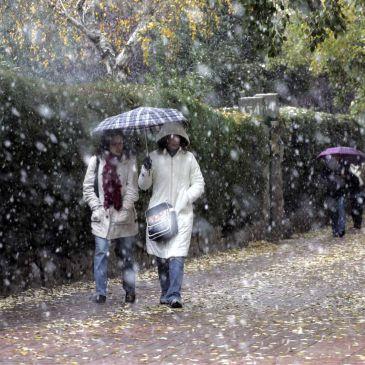Resultado de imagen de copo de nieve sobre madrid
