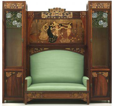 La sala de arte moderno del mnac recibe un mueble del for Muebles modernistas