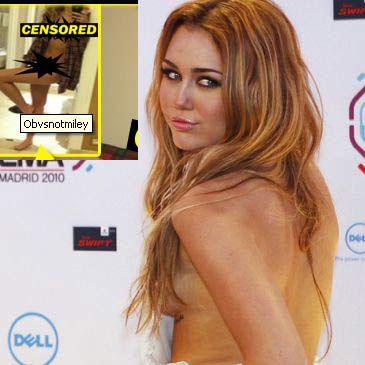 Foto Miley Cyrus En Un Fotomontajte Junto A La Supuesta Imagen