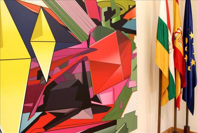 La obra de base geom trica futura con rombos de ferm n - Pintores en bilbao ...