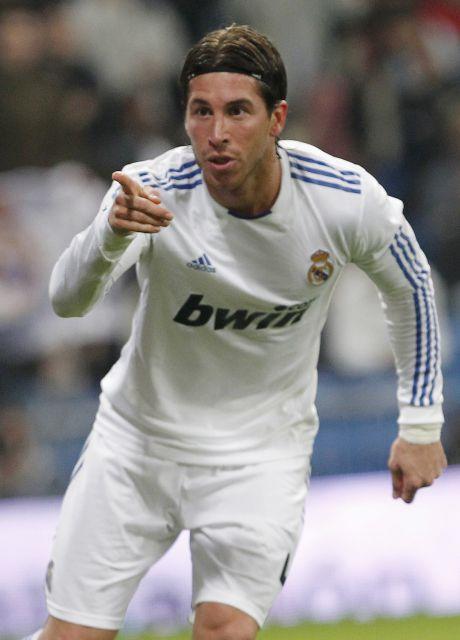 Copa del Rey: Sergio Ramos celebra su gol al Atlético de Madrid