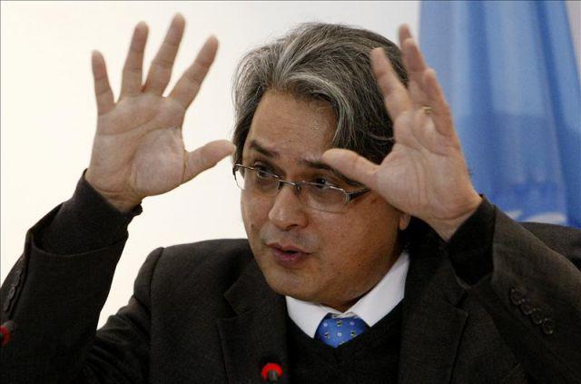 """El representante en Colombia del Alto Comisionado de las Naciones Unidas para los Derechos Humanos, Christian Salazar, habla durante la lectura del """"Informe ... - 3668104w-640x640x80"""