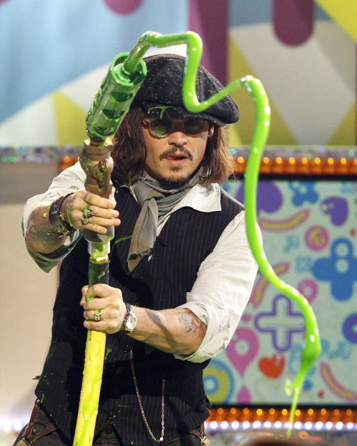 johnny depp 2011 kids choice awards. johnny depp kids choice awards