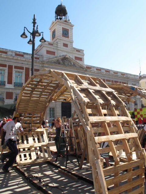 Movimiento 15m estructuras de madera en el campamento - Estructuras de madera para tejados ...