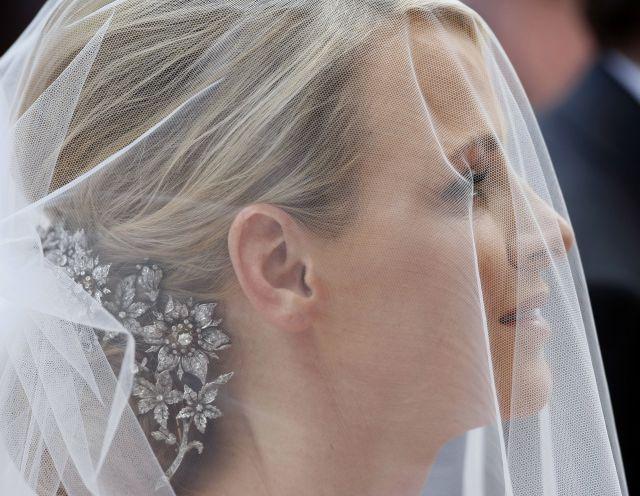 Boda Real en Mónaco: El velo de la princesa Charlene de Mónaco