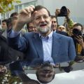 Mariano Rajoy sale de votar en Madrid. Foto: Reuters.