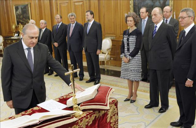 Jorge fern ndez d az jura su cargo como ministro del for Ultimas declaraciones del ministro del interior