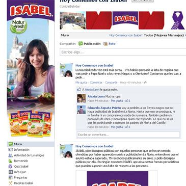 Isabel pide disculpas en Facebook y Twitter por anunciarse en La Noria de Telecinco
