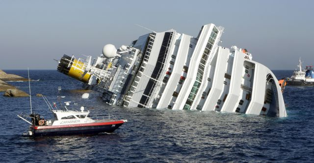 Resultado de imagen para naufragio del crucero Costa Concordia
