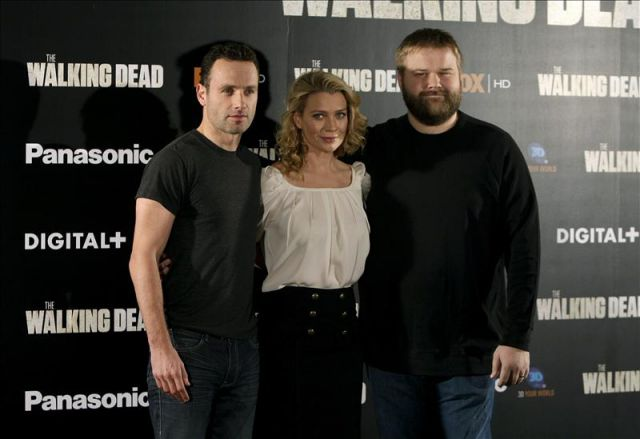 Los protagonistas de &;the walking dead&;, laurie holden y andrew lincon