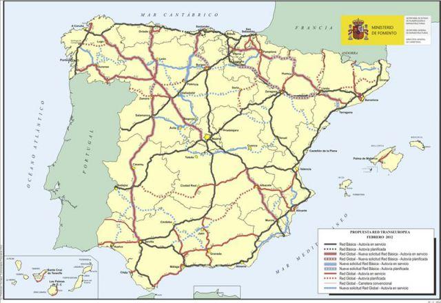 Mapa facilitado por el ministerio de fomento con su nueva for Ministerio del interior ubicacion mapa