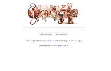 Charles Dickens en un decimonónico 'doodle' de Google que evoca a Oliver Twist y David Copperfield