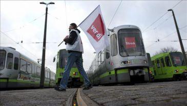 Alemania vive el cuarto día consecutivo de paros en el sector público