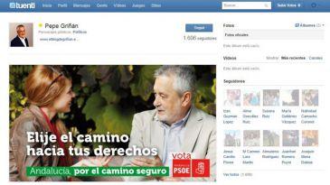 """Falta de ortografía en el cartel electoral de Griñán en Tuenti: """"Elije el camino"""""""