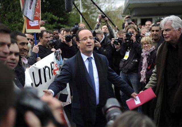 François Hollande, candidato socialista en las elecciones presidenciales francesas.