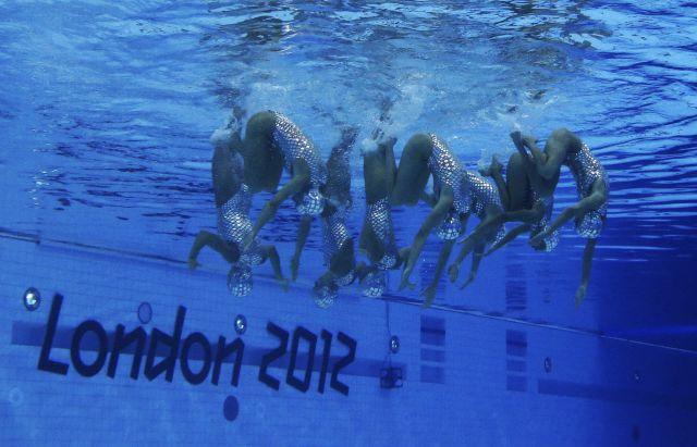 Londres 2012 Natación sincronizada: Imágenes espectaculares debajo ...