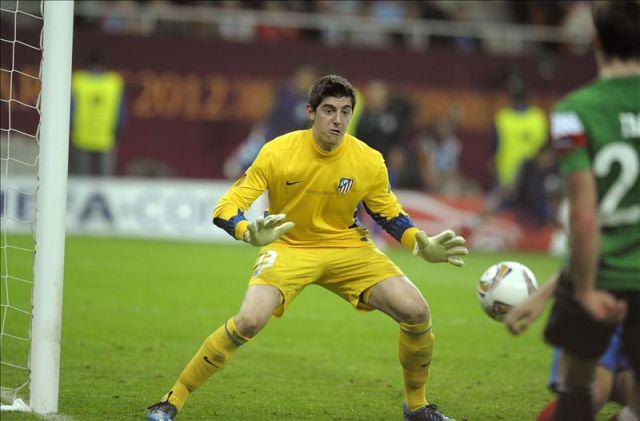 El arquero del Atlético de Madrid, el belga Thibaut ...