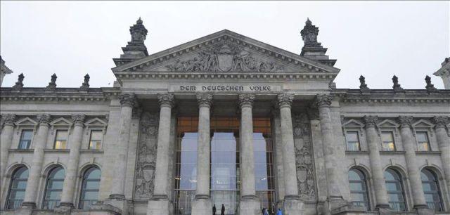 Fachada del edificio del reichstag sede del bundestag o for Sede del parlamento