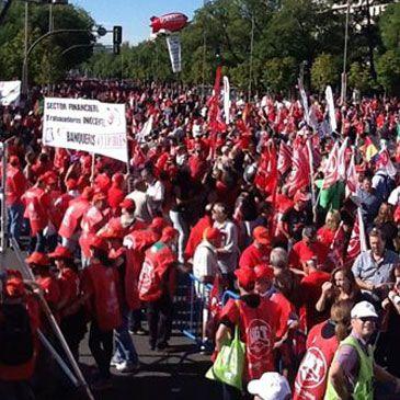 """15-S: Los sindicatos piden un referéndum y advierten que llegarán """"tan lejos como el Gobierno quiera llegar"""""""