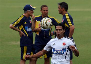 Foto: Jugadores de la selección colombiana de fútbol participan en ...