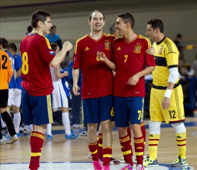 Los jugadores de la selecci n espa ola de f tbol sala for Federacion espanola de futbol sala