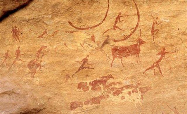Man Cave Oran Park : Una pintura rupestre pinatda por el hombre prehistórico