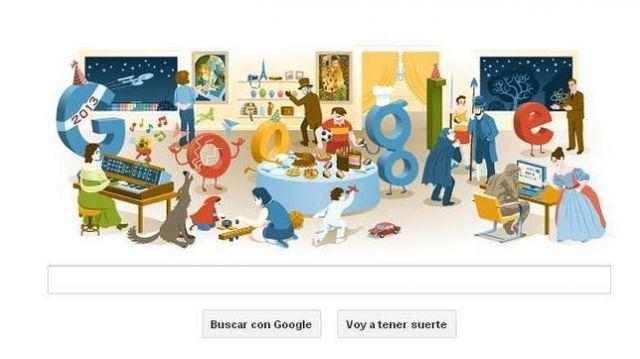 El doodle de Google para despedir 2012 es un mosaico de sus homenajes en este año.