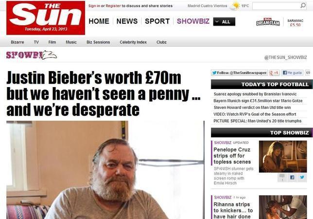 Justin Bieber: su abuelo denuncia que vive en condiciones precarias
