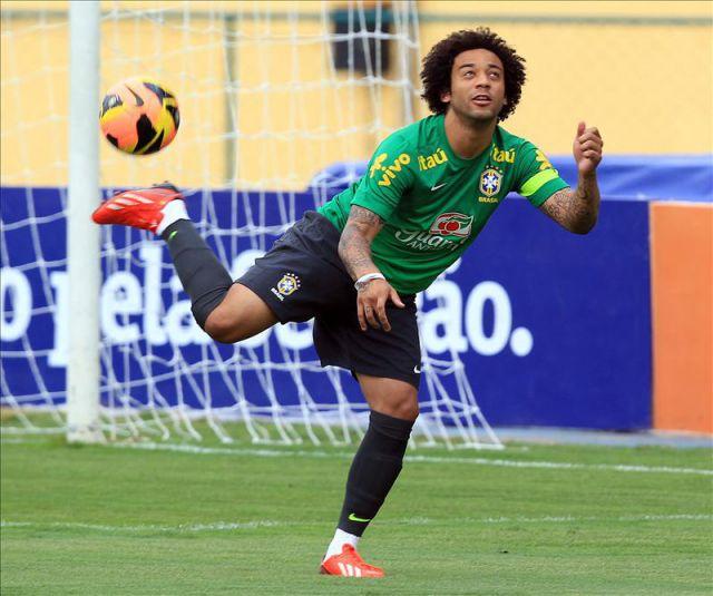 El jugador de la selecci n brasile a de f tbol marcelo for Proximo partido del real madrid