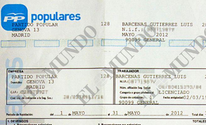 La nómina de Bárcenas echa por tierra las explicaciones de Rajoy
