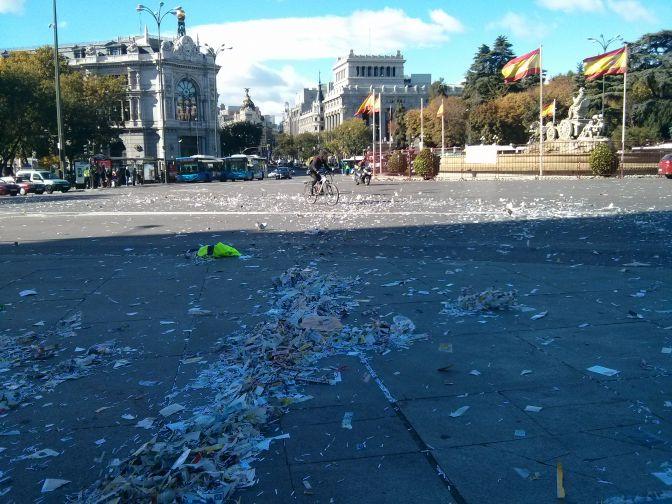 Huelga de limpieza: el caos se apodera de Madrid
