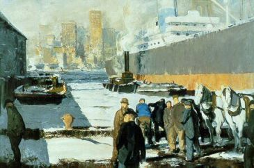 The National Gallery adquiere 'Men of the Docks', la primera pintura de Bellows en una colección pública británica