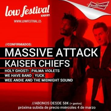 Massive Attack y Kaiser Chiefs se incorporan al cartel del Low Festival
