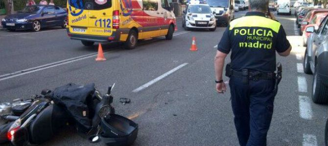 Accidente de moto en Madrid
