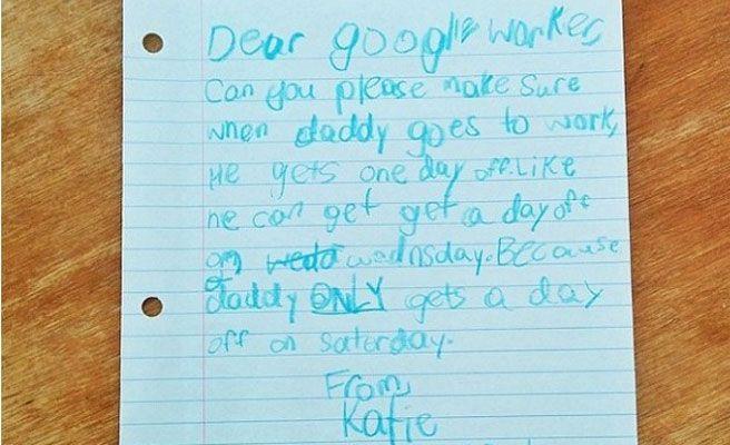 Escribe una carta a Google para que le den vacaciones a su padre