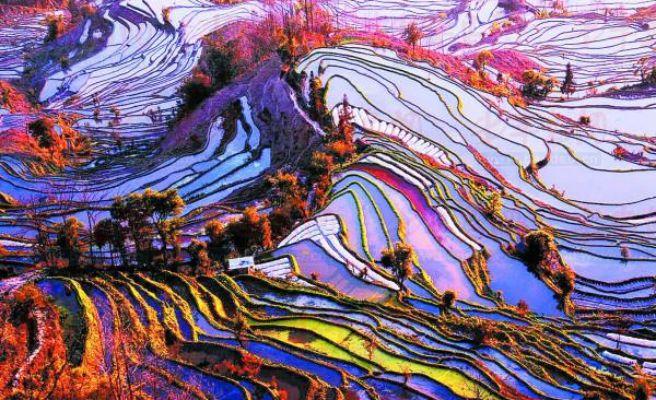 Yuanyang China  city photos gallery : Foto: Yuanyang County, China.