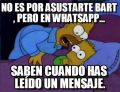 WhatsApp asusta hasta a los Simpson