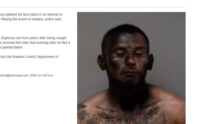 Un ladrón se pinta de negro para burlar a la policía