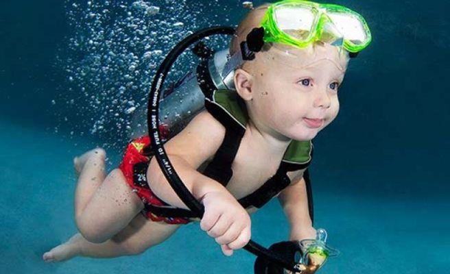 'Underwater babies', fotografías de niños bajo el agua
