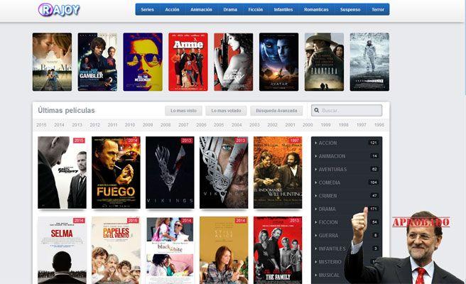 PelículasRajoy.com, la web de descargas ilegales contra el Gobierno