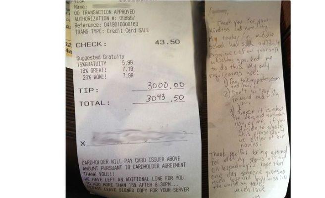 Deja 3.000 dólares de propina para que no desahucien a una camarera